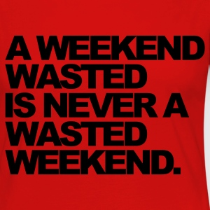Rouge A Weekend Wasted Sweatshirts - T-shirt manches longues Premium Femme