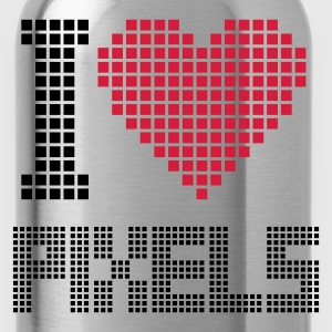 Nero I Love Pixels T-shirt - Borraccia