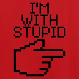 Rood/wit I'm with stupid Tassen - Mannen voetbal shirt