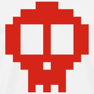 Red pixel Skull - Men's Premium T-Shirt