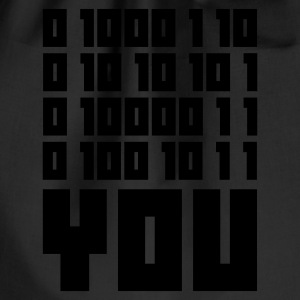 Svart FUCK YOU - Binary code T-shirts - Gymnastikpåse
