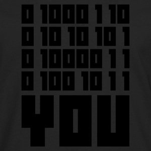 Black FUCK YOU - Binary code Men's T-Shirts - Men's Premium Longsleeve Shirt