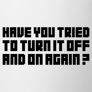 Wit Turn it off and on again T-shirts - Mok