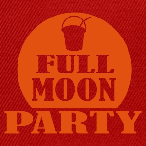 Red/white full moon party Men's T-Shirts - Snapback Cap