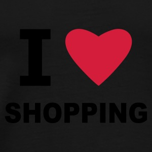 Black I Love Shopping Bags  - Men's Premium T-Shirt