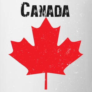 White Grungy Maple leaf design Bags  - Mug