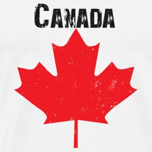 White Grungy Maple leaf design Bags  - Men's Premium T-Shirt