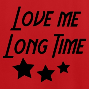 Rood/wit love me long time Tassen - Mannen voetbal shirt