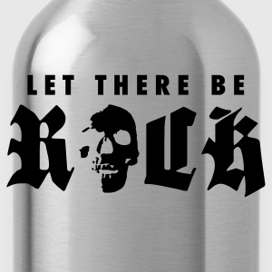 Black let_there_be_rock_a_1c  Aprons - Water Bottle
