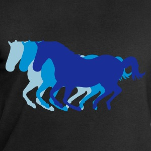 Black Three horses at a gallop - Horse riding - dressage horses riding horse race Men's T-Shirts - Men's Sweatshirt by Stanley & Stella