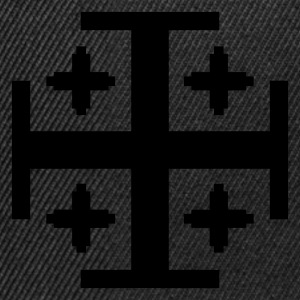 Black 5 Kreuze / 5 crosses (1c) Men's T-Shirts - Snapback Cap