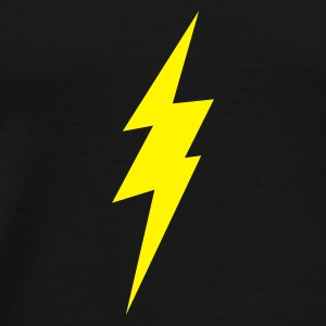 Black lightning bolt Underwear - Men's Premium T-Shirt