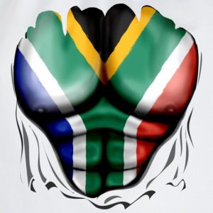 South Africa Flag Ripped Muscles, six pack, chest  - Drawstring Bag