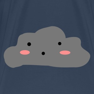 Navy/white Cloudy skies Bags  - Men's Premium T-Shirt