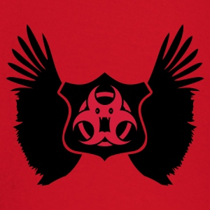 Donkerrood winged Biohazard Monster Emblem (2c) T-shirts - T-shirt