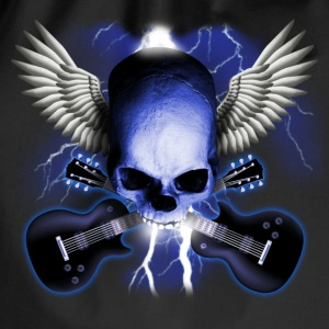 Schwarz skull_and_wings_and_guitars T-Shirts - Turnbeutel