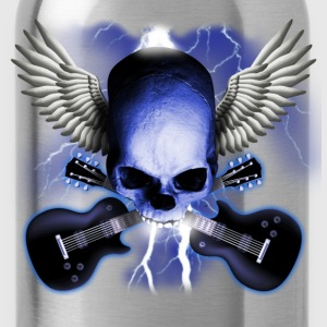skull_and_wings_and_guitars T-Shirts - Water Bottle