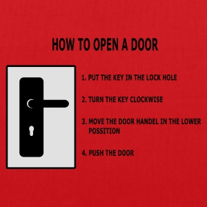 Rood How to open a door T-shirts - Tas van stof