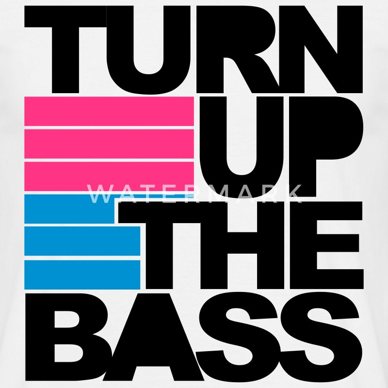 Blanc Turn Up The Bass T-shirts - T-shirt Homme