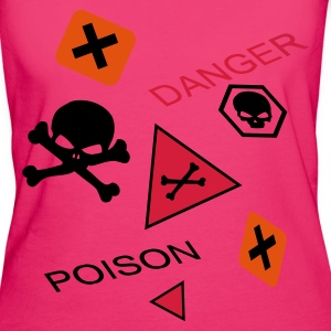 Magenta Caution extremely toxic or poisoning danger Bags  - Women's Organic T-shirt