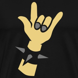 Schwarz Rocking Hands for black shirts Devil horns  Taschen - Männer Premium T-Shirt