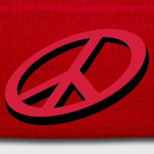 Red Frieden / peace (3D, 2c) Kids' Tops - Winter Hat
