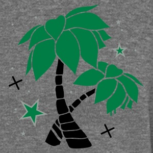 Charcoal Two palm trees on the beach Polo Shirts - Women's Boat Neck Long Sleeve Top