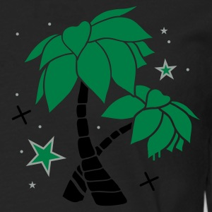 Charcoal Two palm trees on the beach Polo Shirts - Men's Premium Longsleeve Shirt