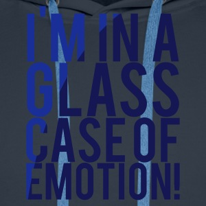 Navy I'M IN A GLASS CASE OF EMOTION! Men's T-Shirts - Men's Premium Hoodie
