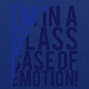 Navy I'M IN A GLASS CASE OF EMOTION! Men's T-Shirts - Tote Bag