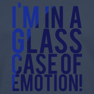 Navy I'M IN A GLASS CASE OF EMOTION! Men's T-Shirts - Men's Premium Longsleeve Shirt