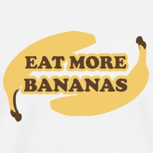 White Eat more bananas - Eat more bananas Buttons - Men's Premium T-Shirt
