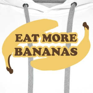 White Eat more bananas - Eat more bananas Teddies - Men's Premium Hoodie