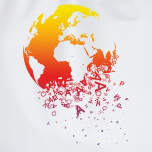 White World dissolves Men's T-Shirts - Drawstring Bag