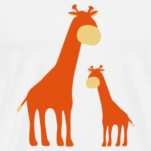 Sand/charcoal Giraffes Long sleeve shirts - Men's Premium T-Shirt