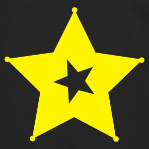 Yellow star - Camiseta de manga larga premium hombre