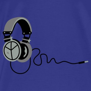 Purple peace_headphones Bags  - Men's Premium T-Shirt