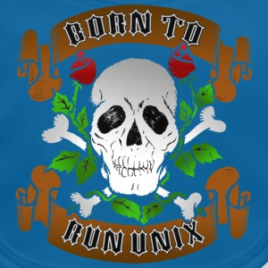 Marineblå Born To Run Unix Børne T-shirts - Baby økologisk hagesmæk