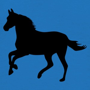 Royal blue Horse pony riding race horses - foal - small horse  Umbrellas - Men's T-Shirt