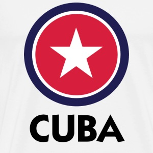 White Cuba 1 (DD) Mugs  - Men's Premium T-Shirt