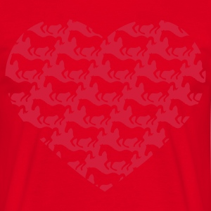 Red I love ponies i love horse riding I heart tab Bags  - Men's T-Shirt