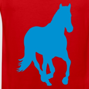Red Horse pony riding wild horse rider Kids' Shirts - Men's Premium Tank Top