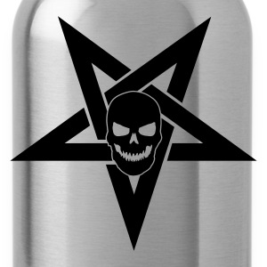 Pentagram with Skull 1 - Trinkflasche