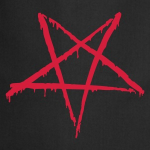 Black Bloody Pentagram Men's T-Shirts - Cooking Apron