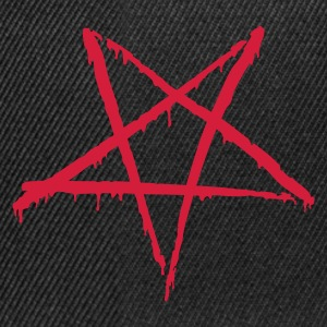 Black Bloody Pentagram Men's T-Shirts - Snapback Cap