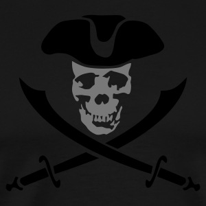 pirateskull_2c  Aprons - Men's Premium T-Shirt