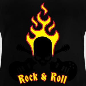 Black fire_skull_guitar_b_3c Kids' Shirts - Baby T-Shirt
