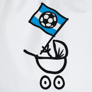 Argentina Bebé Fútbol Fan Baby Body - Drawstring Bag