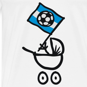 Argentina Bebé Fútbol Fan Baby Body - Men's Premium T-Shirt