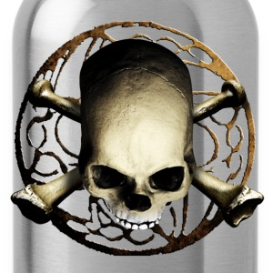 Schwarz skull_and_tribal_b T-Shirts - Trinkflasche